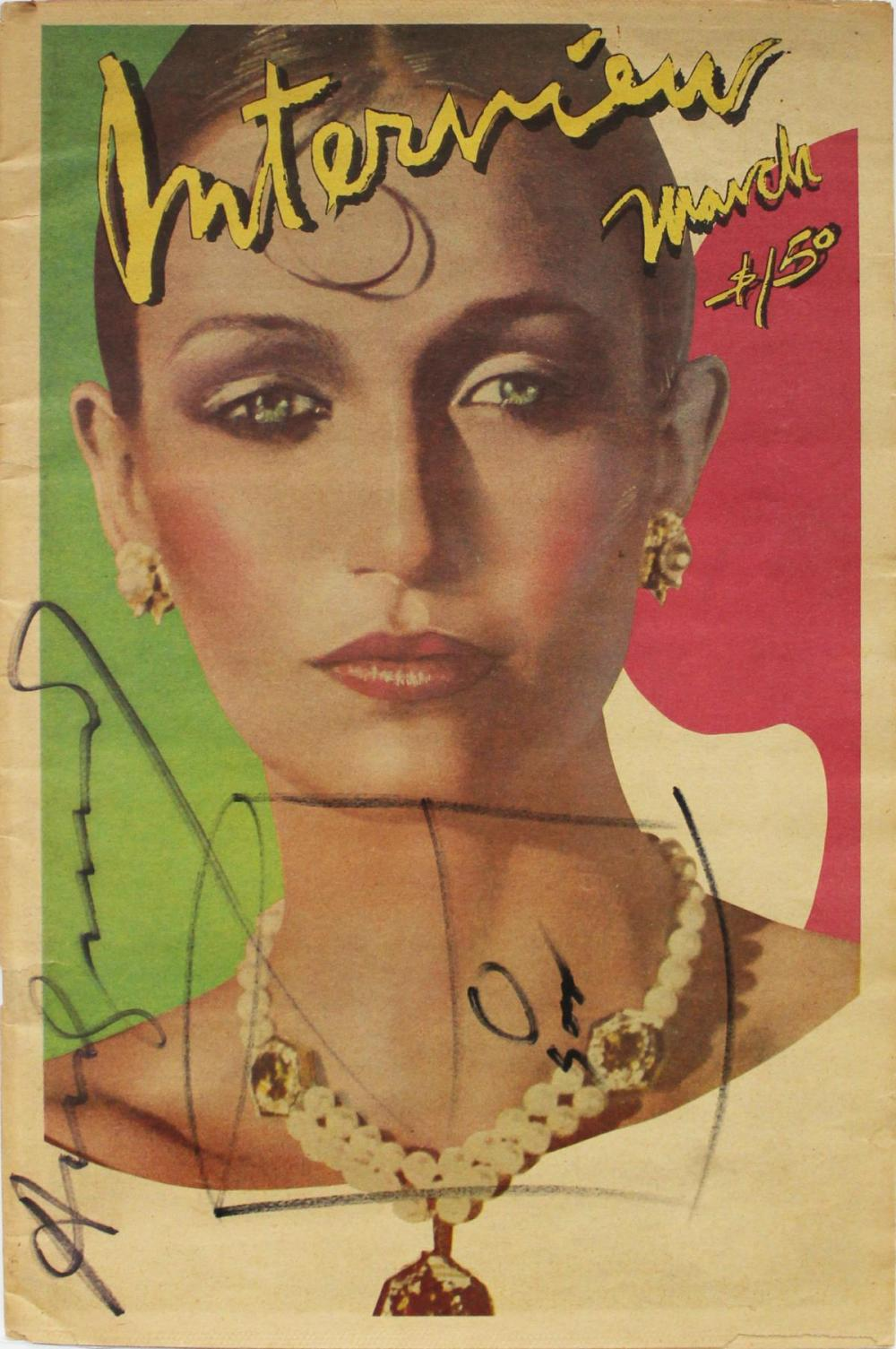 Andy Warhol - Hand Signed Interview Magazine
