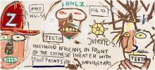 Jean-Michel Basquiat, Hollywood Africans.. Silkscreen