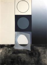 Jasper Johns - Bent Stencil