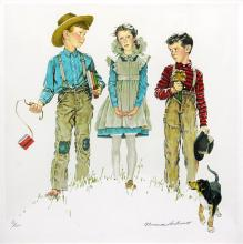 Rivals by Norman Rockwell