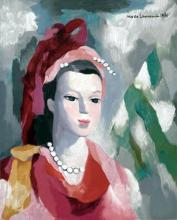 Portrait of a Woman in Red by Marie Laurencin