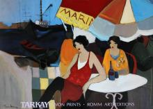 Seaside Cafe by Itzchak Tarkay