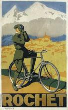 Cycles Rochet vintage poster by Alph Noel