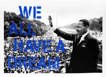 We All Have a Dream (Blue Edition) by Mr. Brainwash