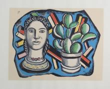 Fernand Leger (After) - Tete et Cactus