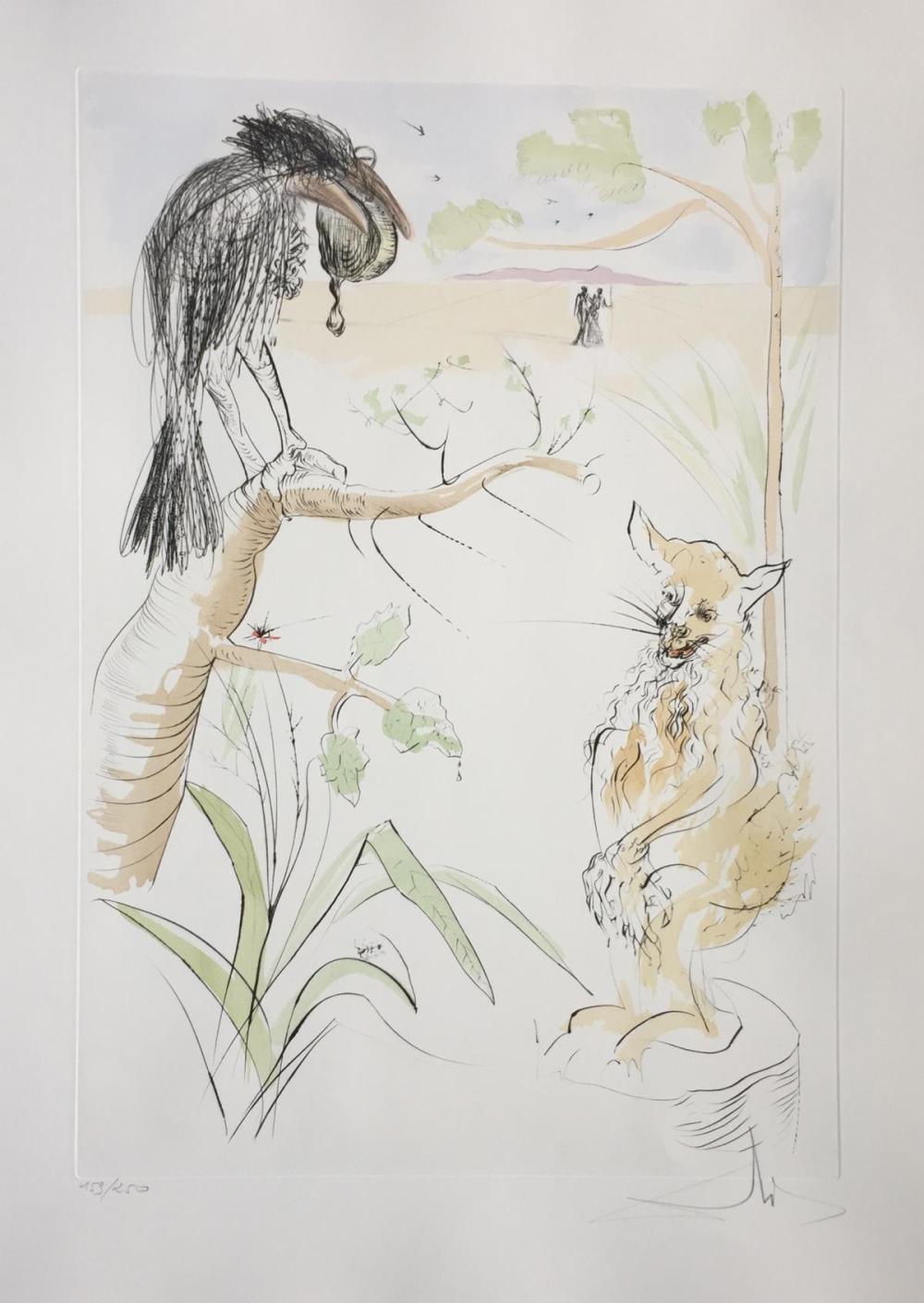 Salvador Dali - Le Corbeau et le Renard