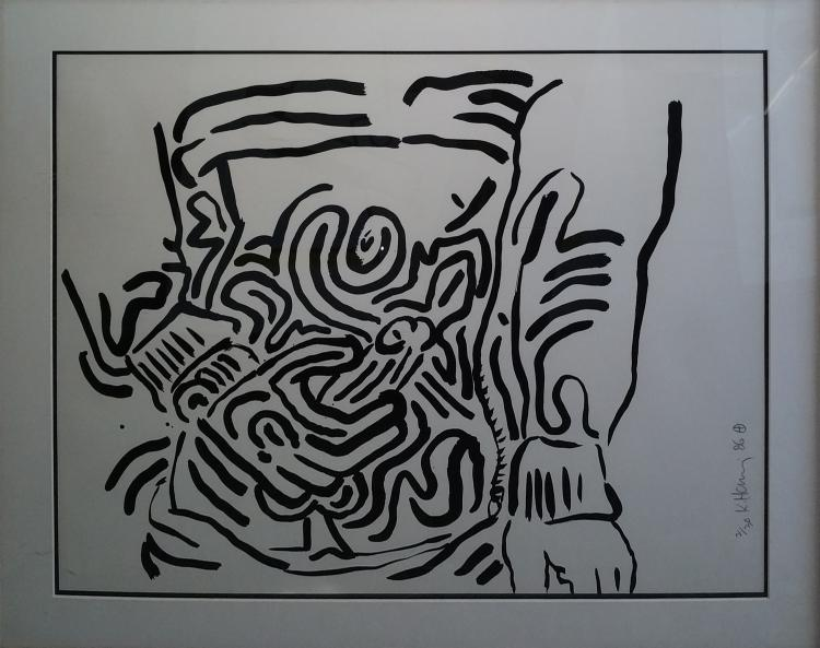 Keith Haring, from Bad Boys Orig Screenprint Hand Signed