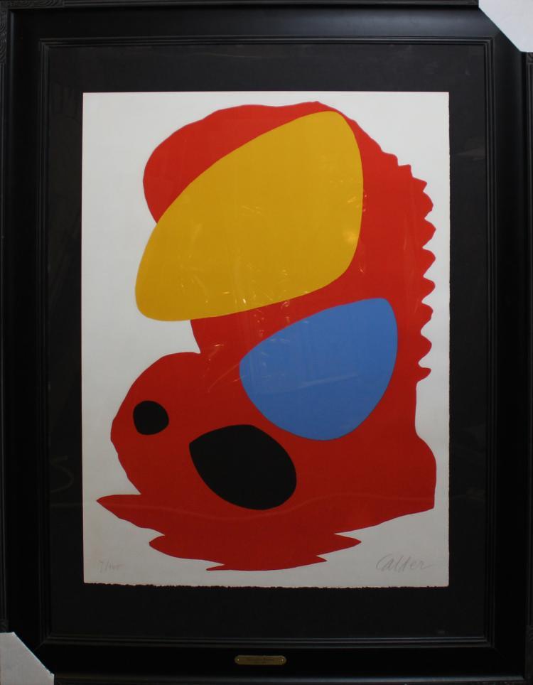 Alexander Calder Original Lithograph Hand Signed
