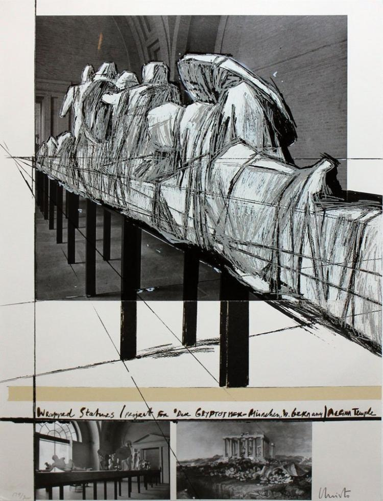 Christo and Jean Claude Orig Hand Signed Silkscreen
