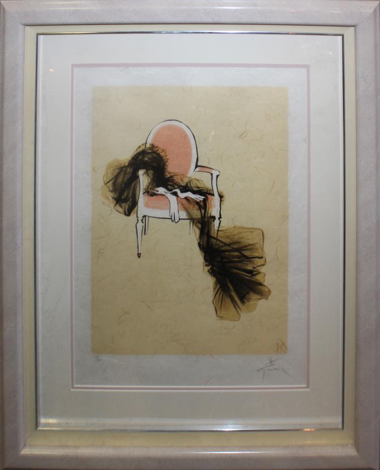 Rene Gruau untitled lithograph