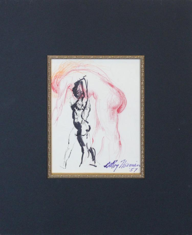 Original  Ink and Pencil by LeRoy Neiman