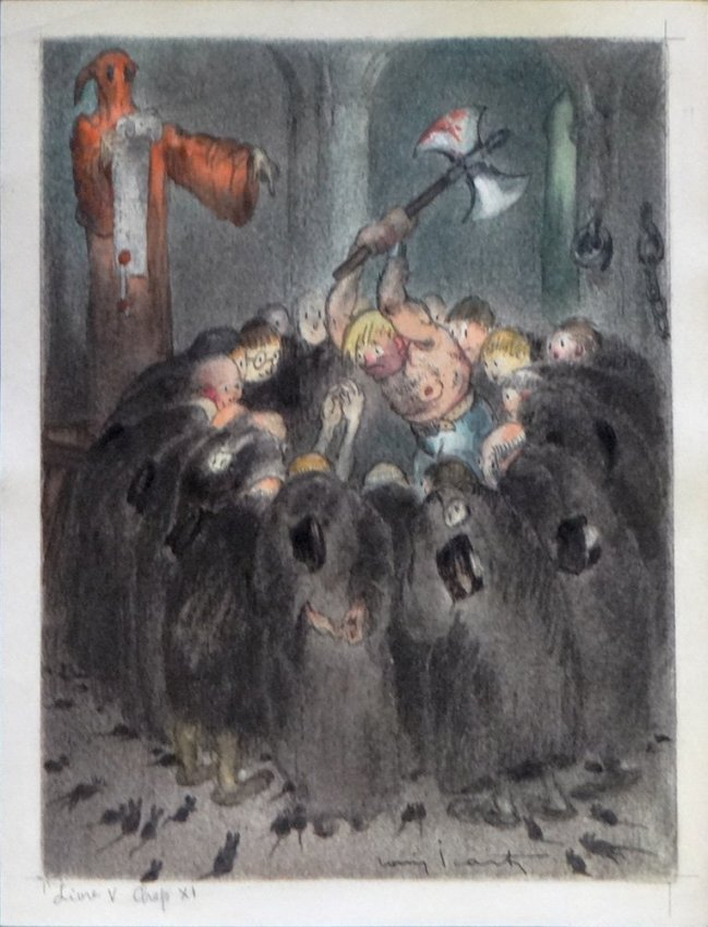 Louis Icart, original illustration from