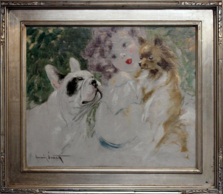 Louis Icart Original oil painting