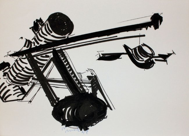 Mark Di Suvero, one plate from
