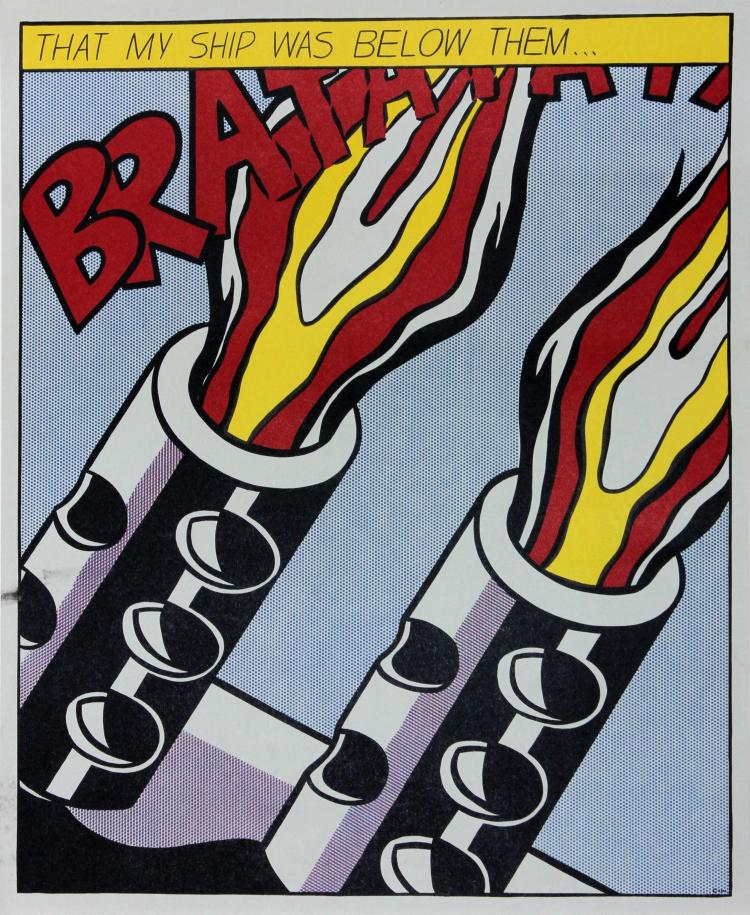 As I Opened Fire III by Roy Lichtenstein