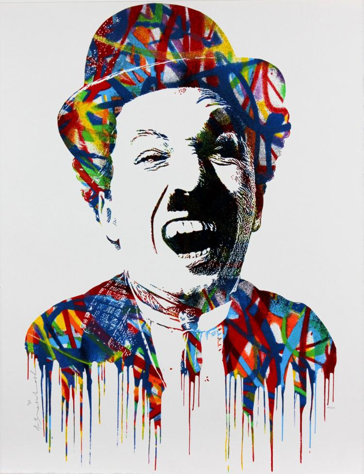 Charlie Chaplin by Mr Brainwash