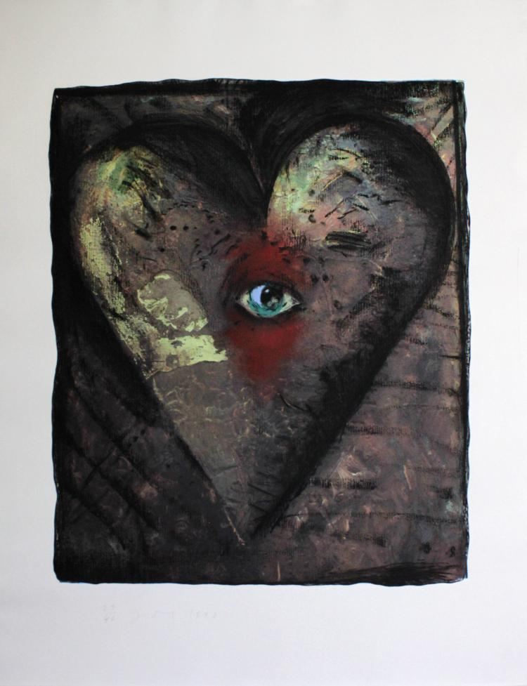 Hand Colored Viennese Hearts V by Jim Dine
