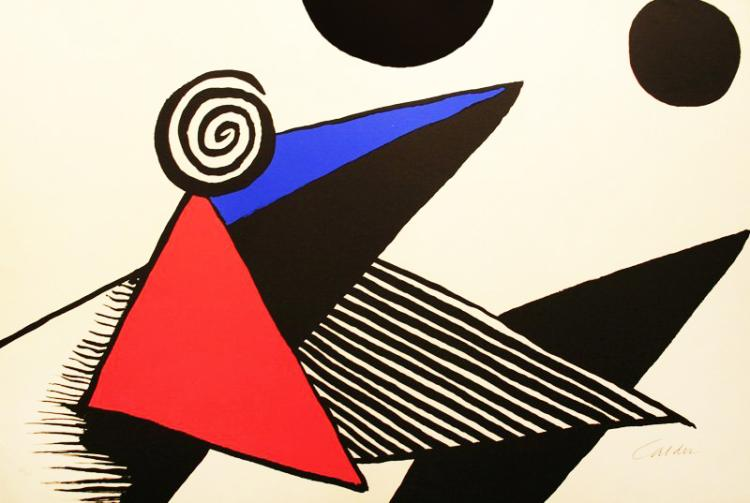 Spirale et Triangle Rouge by Alexander Calder