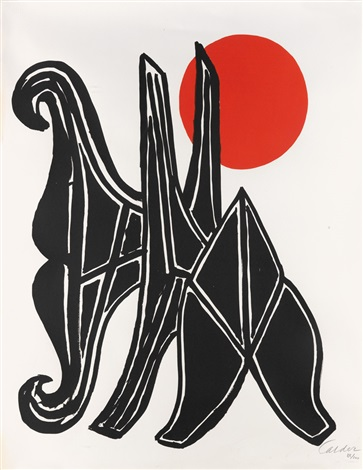 Young Woman and her Suitors by Alexander Calder