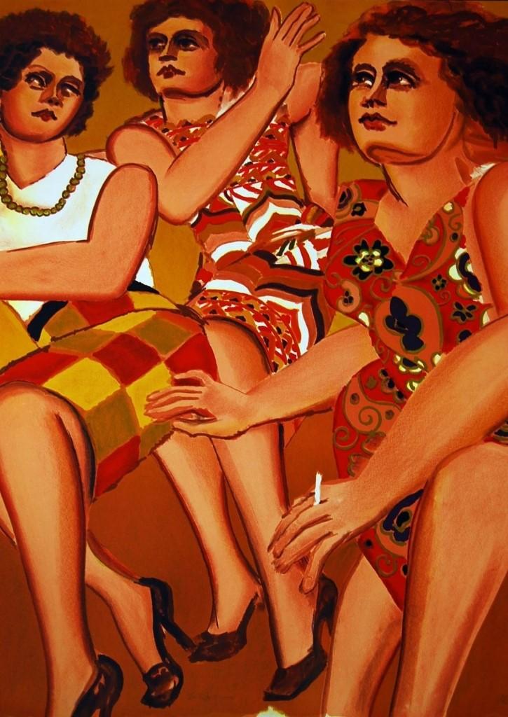Lester Johnson - Three Women
