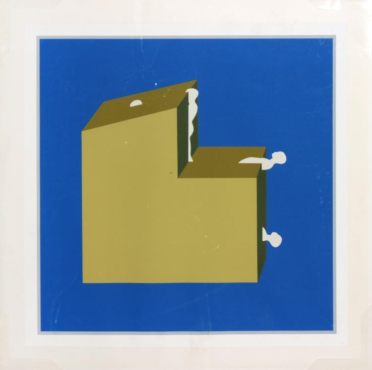 Falling Man Cube by Ernesto Trova