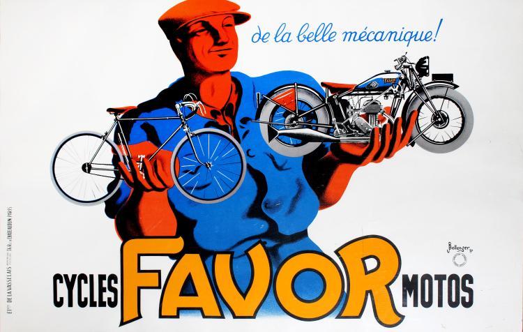 Bellenger, Vintage motorcycle poster
