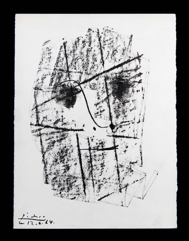 Cubist Portrait of Kahnweiler by Pablo Picasso