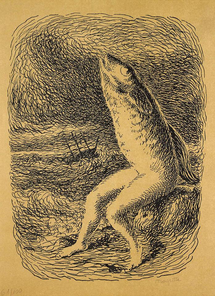 Rene Magritte (After) - Le Chants de Maldoror