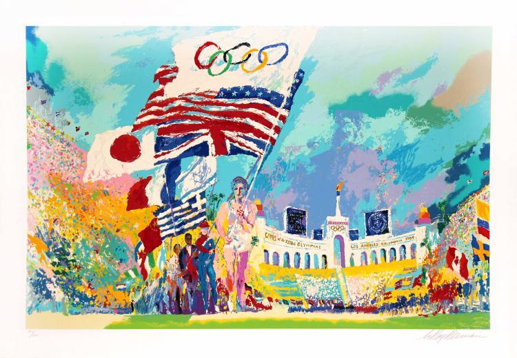 Opening Ceremony Olympics by LeRoy Neiman