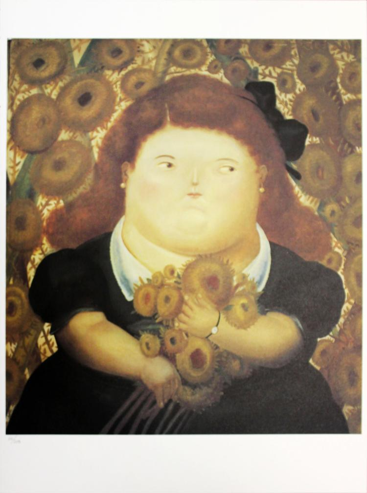 Fernando Botero (after) - Girl in a Garden of