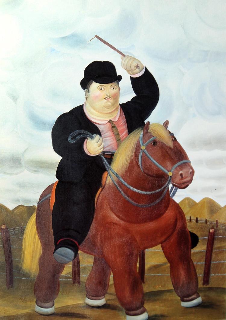 Fernando Botero (after) - Man on Horseback