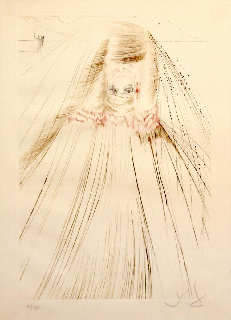 Salvador Dali - The Queen with a Silk Tunic