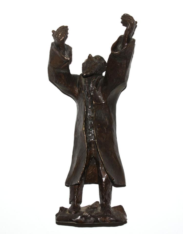 Gizel Berman - Cast Bronze Rabbi Sculpture from