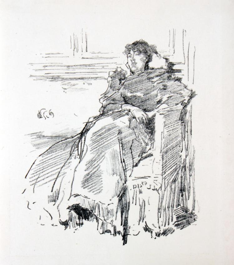 James McNeill Whistler - La Robe Rouge