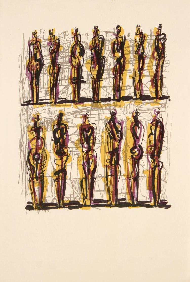 Henry Moore - Lithograph from Heads Figures and Ideas