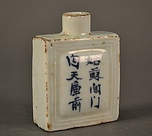 Chinese Snuff Bottle size: 2.75