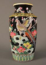 Famille Noire Vase size: 9.5