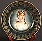 Berlin Marked Gilded Cabinet Plate Berlin Marked Gilded Cabinet Plate, decorated with a lady.Size : 9.75