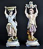 Pair of Bisque Figurines Pair of Bisque Figurines.Size : 12