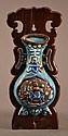 Antique Chinese Silver and Enamel Wall Decor