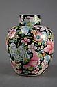 Antique Chinese Famille Noire Lidded Vase
