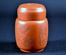 Chinese Yixing Tea Caddy Size : 5 1/2