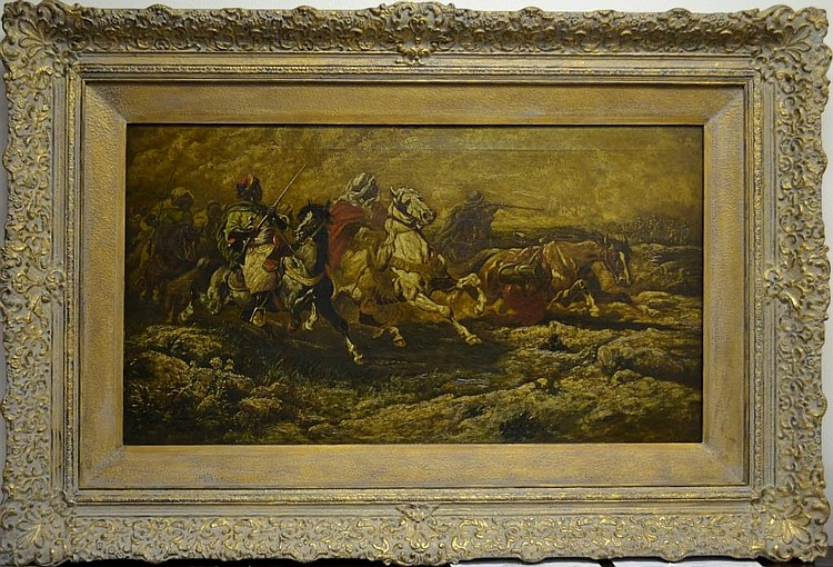 C.V. BOIZARD Painting - 19C. Oil on Canvas Size :
