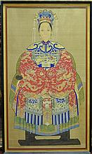 Chinese Painting on Silk Size : 27 1/2