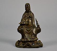 Chinese Qing Dynasty Bronze Elder 6 1/8