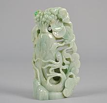 Chinese Jade Carving of Fruit and Coins 6 1/4