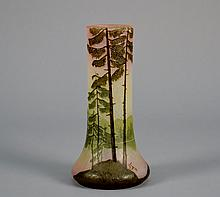 Cameo Glass Vase Signed  Legras 8