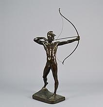Bronze Sculpture Man w / Bow Signed E M GEYGER 24