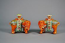 Chinese Famile Rose Candle Holders Beautiful