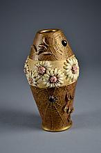 Amphora Potery Spider Web Vase 8 1/8